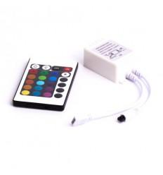 RGB LED kontrolér pro LED pásky, 24 tlačítek