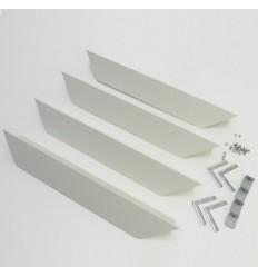 SDK rám pro LED panel, 1200x300, bílá barva
