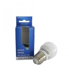 GiGALED žárovka G45,E27,240V,5W,420lm,5500-6000K