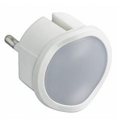 LED svítidlo noční do zásuvky bílé