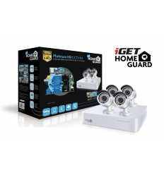 iGET HGDVK87704 - Kamerový CCTV set FullHD, 8CH DVR rekordér + 4x FHD 1080p kamera,Win/Mac/Andr/iOS