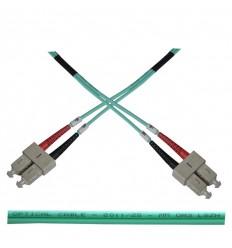 Optický patch kabel duplex SC-SC 50/125 MM 2m OM3