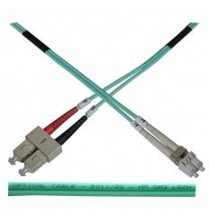 Optický patch kabel duplex LC-SC 50/125 MM 2m OM3
