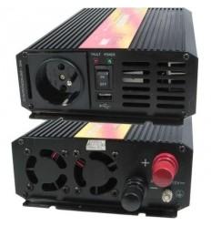 Měnič napětí Carspa P300U-24 24V/230V+USB 300W, čistá sinusovka