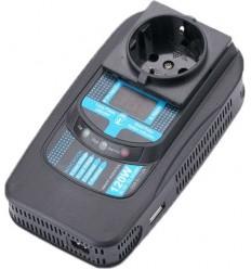 Měnič napětí Carspa PID12012V/230V+USB 120W, modifikovaná sinus, digitální display