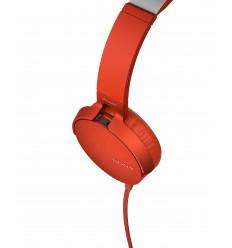 SONY Sluchátka EXTRA BASS MDR-XB550AP,červená