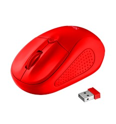 myš TRUST Primo Wireless Mouse - matte red
