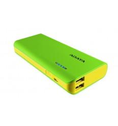 ADATA PT100 Power Bank 10000mAh zelená/žlutá