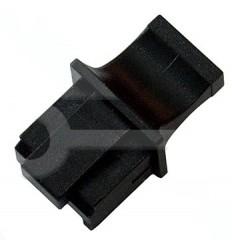 Záslepka pro female konektor RJ45 černá