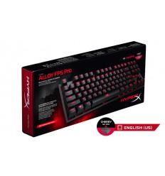 HyperX Alloy FPS Pro herní mechanická klávesnice, červené MX spínače