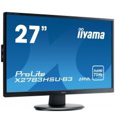 """27"""" LCD iiyama X2783HSU-B3 - AMVA+, 4ms, 300cd/m2, 3000:1, FullHD, VGA, DP, HDMI, USB, repro"""