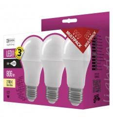 LED žárovka CLASSIC A60 9W E27 teplá bílá 3ks