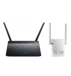 AKCE ASUS ASUS AC750 router + repeater starter kit (složeno z RT-AC51U a RP-AC51)