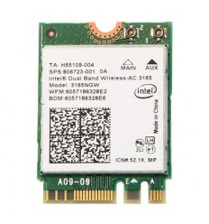 XtendLan M.2 Intel AC3165 WiFi 802.11b/g/n/ac 2,4GHz + 5GHz + Bluetooth 4.2