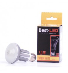 BEST-LED žárovka R63, 240V, 7W, 570lm,WW