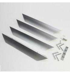 SDK rám pro LED panel, 1200x300, stříbrná barva